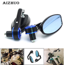 7/8 22mm Universal Motorcycle Mirror View Side Rear Mirror For Ducati MONSTER 400 620 695 696 796 821 1100 1200 for ducati 695 696 796 1100 1200 universal motorcycle 7 8 22mm rearview mirror handle bar end blue side mirror silver
