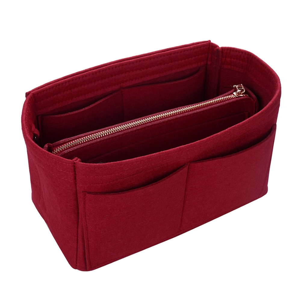 2019 Women Make Up Cosmetic Bag Multifunctional Travel Bag Organizer Felt Cloth Insert Bag Makeup Organizer Toiletry Handbags