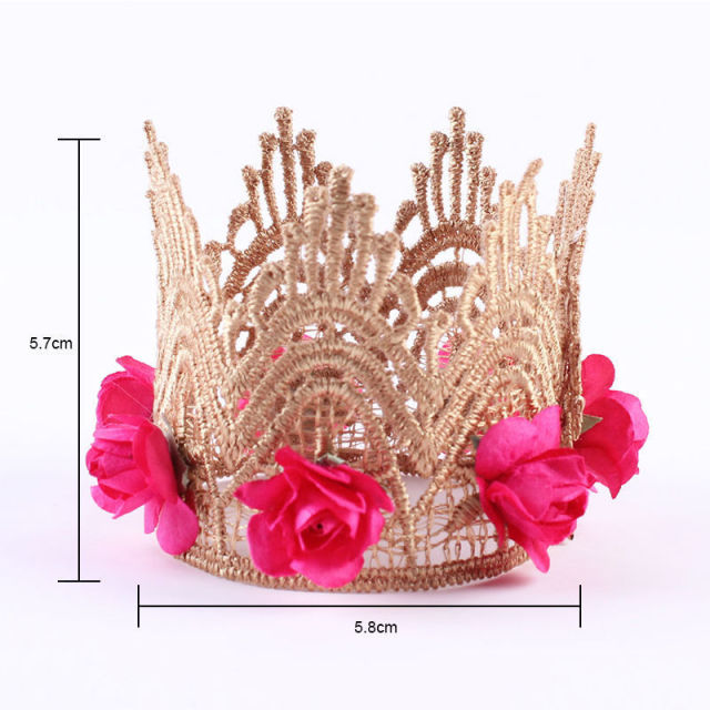Girls Cute Gold Crown Headband