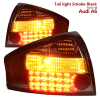 Smoke black Housing for Audi A6 Led Tail light fit 2001 2004 year models TOP quality & fitment & durability Fashion Looks
