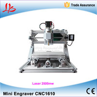 Mini CNC 1610 Machine And 2500mw Laser Engraver 2 In 1 Pcb Milling Machine Wood Carving
