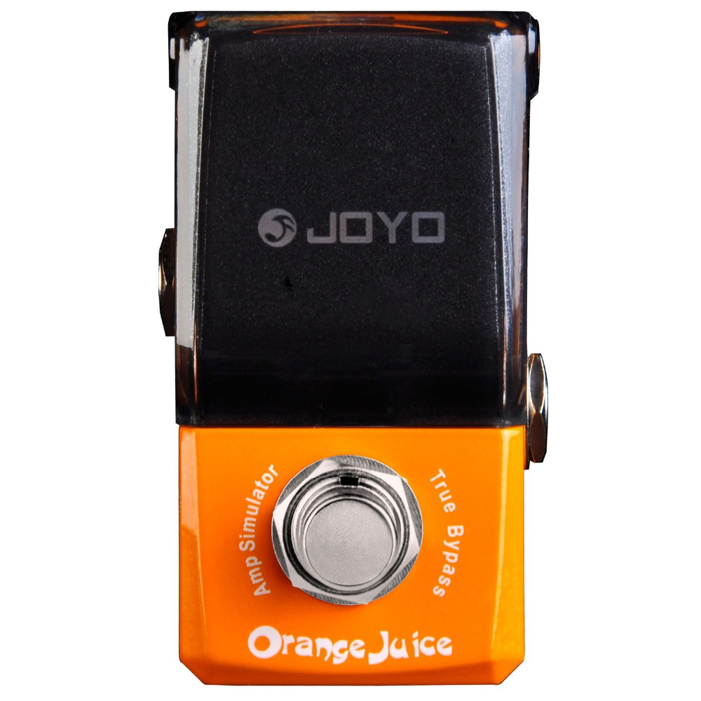JOYO JF-310 Orange Juice Amp Simulator Mini Electric Guitar Effect Pedal with Knob Guard True Bypass joyo rushing train amp simulator electric guitar effect pedal classic liverpool sounds true bypass jf 306 with free 3m cable