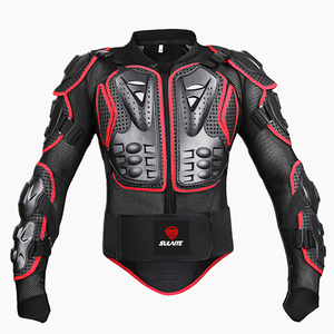 Image 4 - Black/RED Motorcycles Armor Protection Motocross Clothing Jacket Protector Moto Cross Back Armor Protector Motorcycle Jackets