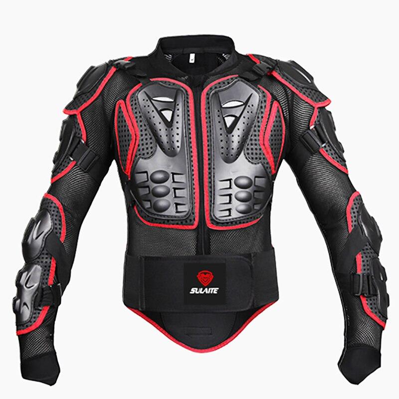 Noir/ROUGE Motos Armure Protection Motocross Vêtements Veste Protection Moto Cross Retour Armure Protecteur Moto Vestes - 4