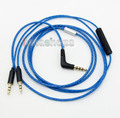 Blue With Mic Remote Volume Cable For Sol Republic Master Tracks HD V8 V10 V12 X3 Headphone LN004896