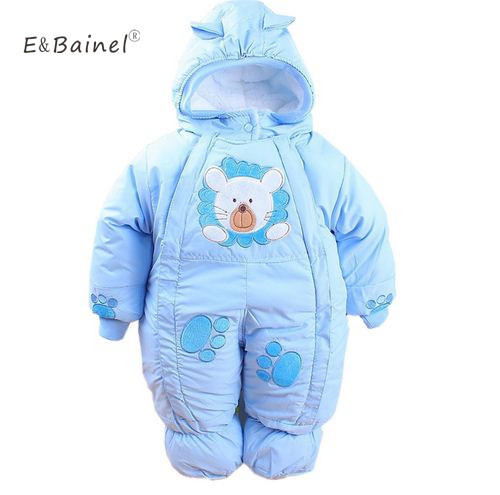 Cotton Winter Rompers Newborn Infant Baby Clothes Fleece Jumpsuit Animal Baby Rompers Girls Boys Clothing Overalls Snow Wear baby boys rompers infant jumpsuits mickey baby clothes summer short sleeve cotton kids overalls newborn baby girls clothing