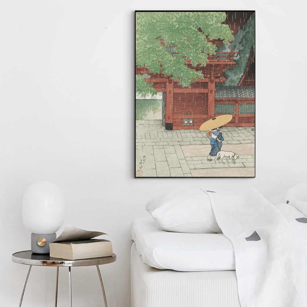 Canvas Nordic Stijl HD Prints Schilderen JapaneseLandscape Kawase Hasui Wall Art Poster Modern Home Decor Foto 'S Voor Woonkamer