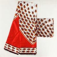 LIULANZHI Nigerian Imitated Silk Fabric Wax 6 yards/lot African Satin Ankara Prints ML8X