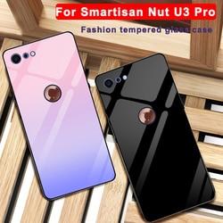 Para Smartisan porca U3 pro caso tampa do telefone de vidro temperado cor Sólida Para Smartisan porca U3pro 5.99