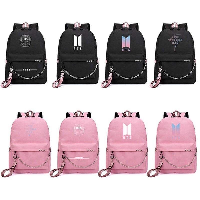 Kids & Baby's Bags Trend Mark Bangtan Boys Bts Kpop Cartoon Backpack Rm Jin Suga J-hope Jimin V Jk Girls Backpacks Girl Bag Student School Bags Mochila Chicas