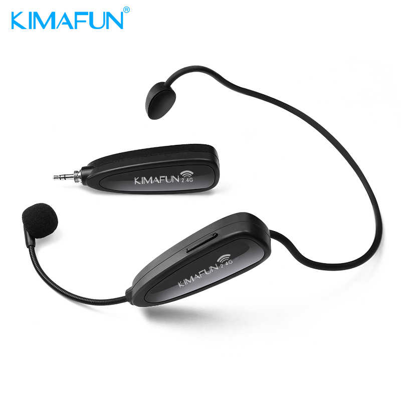 e18e20b92e4 KIMAFUN KM-G100 2.4G Wireless Microphone Speech Headset Mic For Sound ,Loudspeaker,