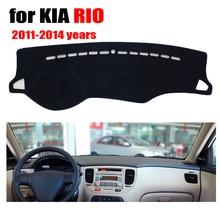 Car dashboard cover mat for KIA RIO 2011-2014 years Left hand drive dashmat pad dash covers auto dashboard accessories