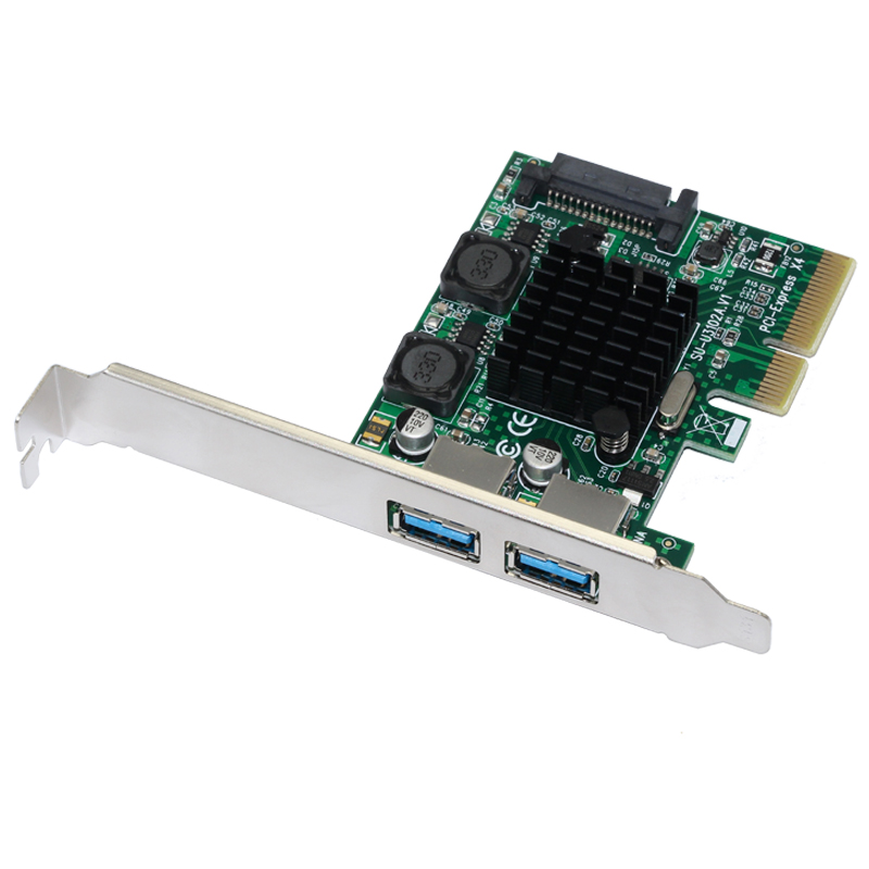 USB 3.1 PCI Express Card 2-Ports Superspeed USB 3.1 10Gbps Raiser Adapter PCIE PCI-E 3.0 X4 ASMedia ASM3142 Chipset For Desktop