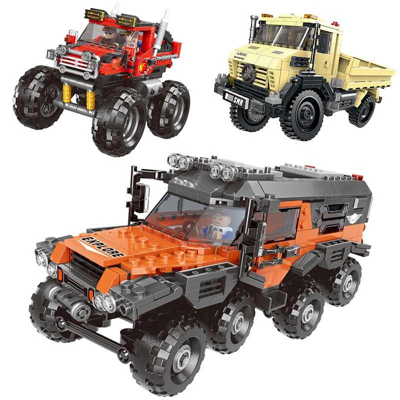 500+pcs Car Series All Terrain Vehicle Set Building Blocks Model Bricks Toys For Kids Educational Gifts  Compatible