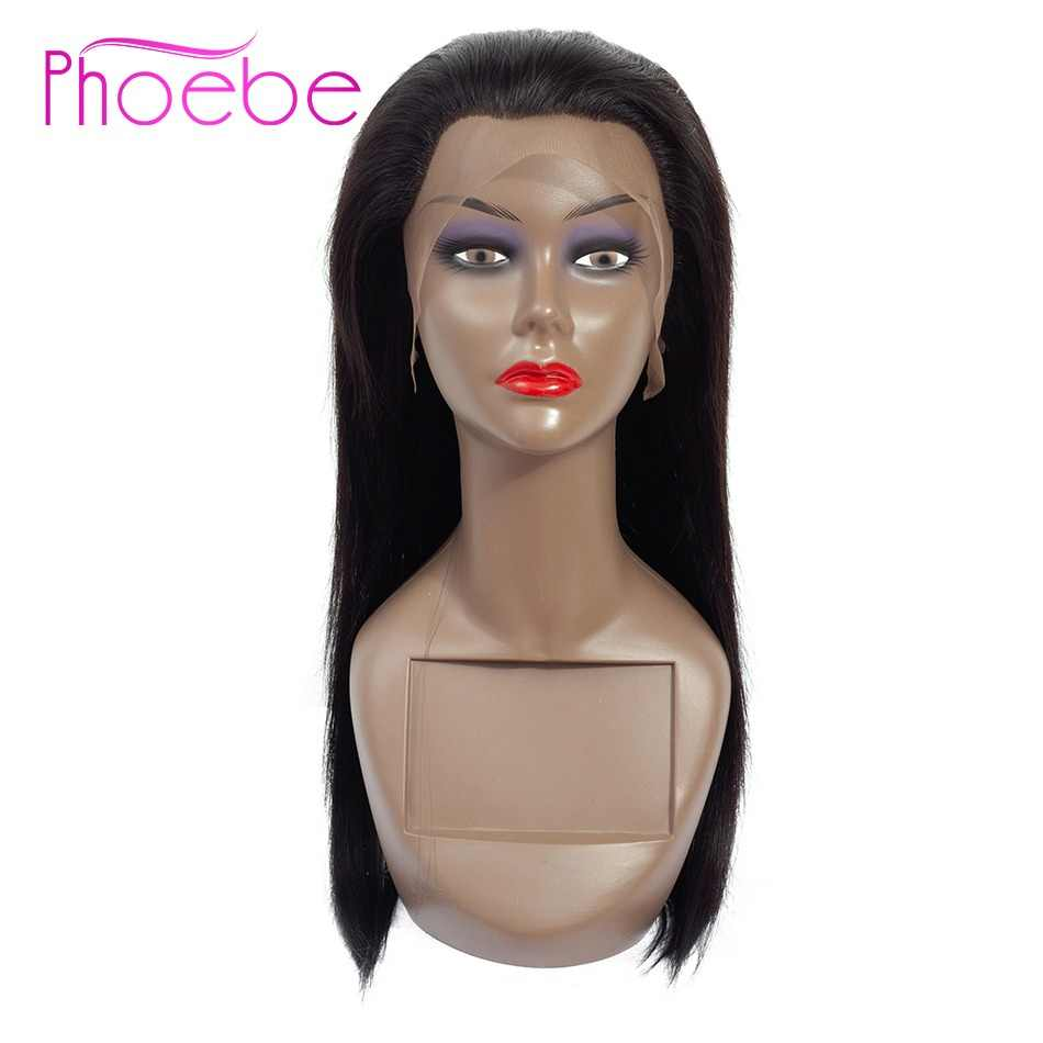 Phoebe Hair 13*4 Lace Front Human Hair Wigs For Women Brazilian Straight Lace Frontal Wig Pre Plucked With Baby Hair Remy Hair