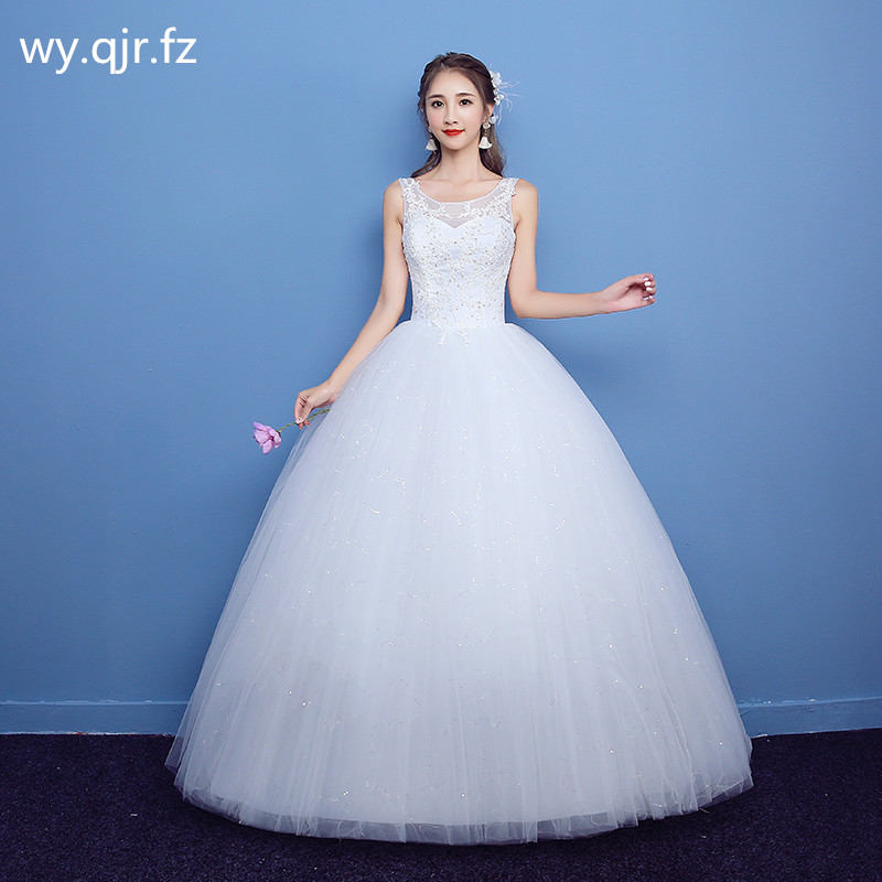 LYG H03 Ball Gown Sequins lace up Bride s wedding dress plus size white Custom cheap
