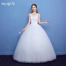 039141943 LYG-H03 # الكرة ثوب الترتر الدانتيل يصل العروس فستان الزفاف زائد الحجم  الأبيض مخصص رخيصة الزواج فساتين رخيصة بالجملة المرأة الجم.