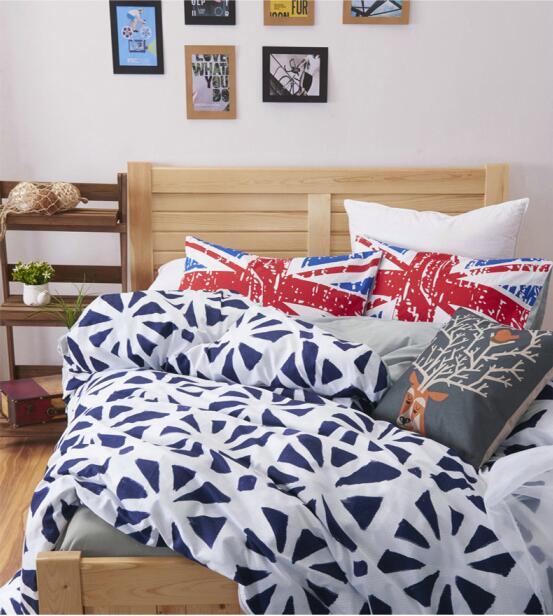 drap housse angleterre 100% coton Angleterre marine bleu Printemps automne Twin/Reine  drap housse angleterre