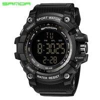 SANDA Deporte Reloj de Los Hombres Relojes de Primeras Marcas de Lujo Famoso Hodinky Electrónico LED Digital Reloj de Pulsera Para Hombre Reloj Relogio masculino