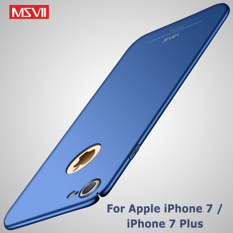 For iPhone 7 Case Cover MSVII 360 Luxury Coque For Apple iPhone 8 Plus Case Slim Hard PC Cover For iphone 7 Plus Phone Cases