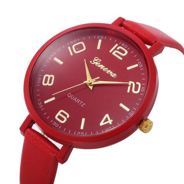 Women Casual Checkers Faux Leather Quartz Analog Wrist Watch women watch bracelet watch ladies dignity MA20