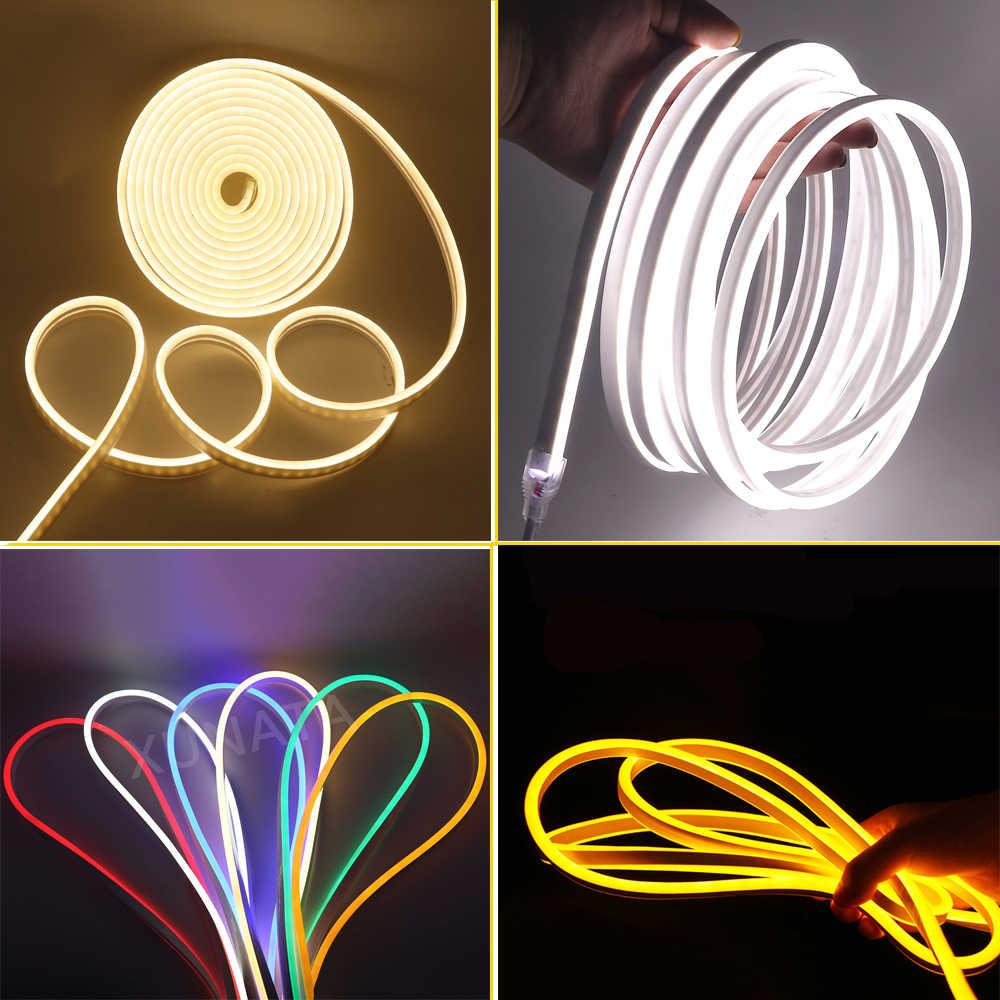 Mới 5050 Đèn Neon 8x16mm RGB Neon Dây Đèn 120 Đèn LED/M Chống Nước Neon Ký Flex ống RGB Điều Khiển EU/ANH/MỸ/AU Plug