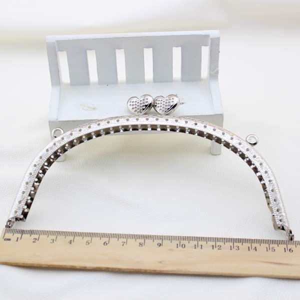 16cm 10pcs/lot silver purse frame metal bag accessories bag frames ...