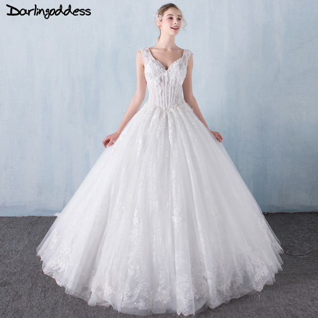 Real Pictures Sexy Vintage Wedding Dress 2017 Lace Appliques Corset ...