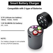 6 Slot Battery Charger Automatic LED Display for Ni-MH Ni-Cd AA AAA 18650 JA55