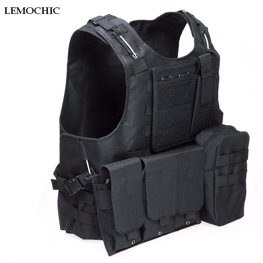 LEMOCHICTactical Paintball Wargame Equipment Army Hunting Molle Airsoft Military Vest Outdoor Body Armor Patrol SWAT Vest