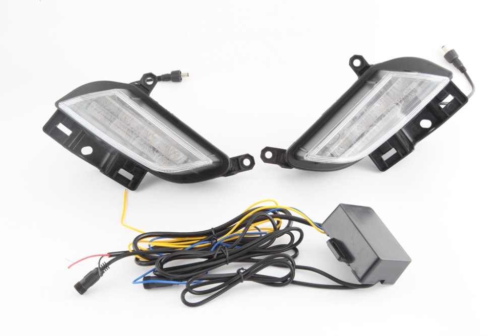 Osmrk led drl daytime running light for toyota yaris L 2017, with yellow turn signal, wireless switch control osmrk drl led daytime running light for opel mokka buick encore 2017 2018 with yellow turn signal wireless control