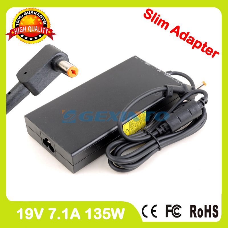 Slim 19V 7.1A laptop ac power adapter charger for Acer Aspire V17 Nitro VN7-792 VN7-792G 90.NKD57.C01 KP.13501.007 KP.13503.007 slim 19v 7 1a 135w laptop ac power adapter charger for acer aspire v15 nitro vn7 592 vn7 592g v5 591 v5 591g vx5 591g pa 1131 16