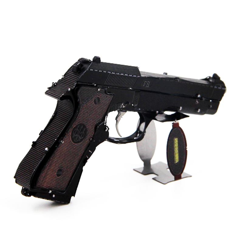 US $10 84 35% OFF 3D Metal Nano Puzzles Models Mini Color Beretta 92 Laser  Cut Jigsaw Kits For Adults Children Educational Interest Training Toys-in