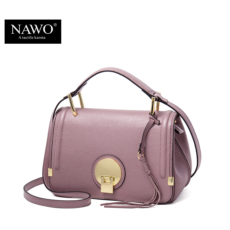 72033861b734 Aliexpress.com   Buy NAWO Genuine Leather Women Messenger Bags Pink Small  Handbags Designer Brand Real Leather Crossbody Bags Ladies Tassel Women Bag  from ...