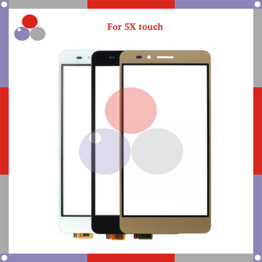 10pcs/lot High Quality For <font><b>Huawei</b></font> <font><b>Honor</b></font> <font><b>5X</b></font> <font><b>Touch</b></font> <font><b>Screen</b></font> Panel Sensor Digitizer Outer Glass Lens image