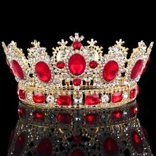 Couronne de diadème fleur en cristal, couronne de luxe pour coiffure de bal reine de mariage, accessoires de bijouterie de cheveux
