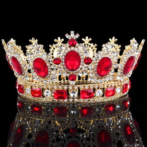 Image 1 - Luxuries Crystal flower Tiara Crown Headdress Prom Queen King crown for Wedding Tiaras and Crowns Hair jewelry Accessories