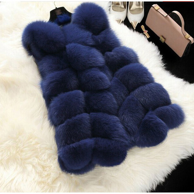 Faux Fur Coat Autumn Winter Women 2020 Fashion Casual Warm Slim Sleeveless Faux Fox Fur Vest Winter Jacket Women casaco feminino