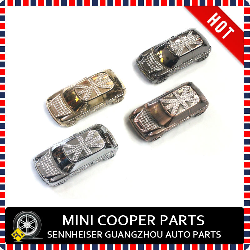 Mini Cooper Model Metal With Crystals Setting Car Perfume