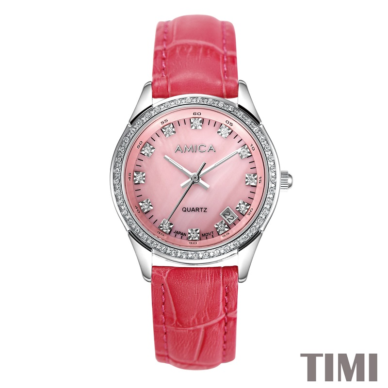AMICA NEW FASHION 2018 FULL STEEL RED WATCHBAND PINK SURFACE SLIVER POINTER WOMENS QURATZ WATCH LADYS WATCH A7-9AMICA NEW FASHION 2018 FULL STEEL RED WATCHBAND PINK SURFACE SLIVER POINTER WOMENS QURATZ WATCH LADYS WATCH A7-9