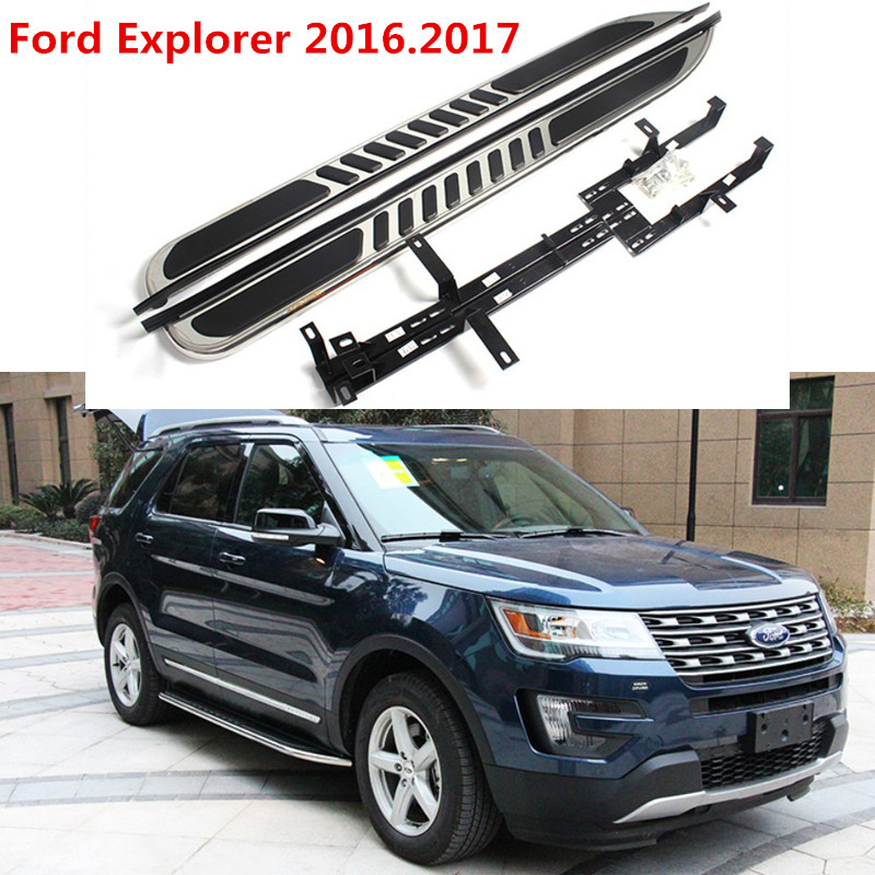 For Ford Explorer 2016 2017 Auto Running Boards Side Step Bar Pedals High Quality Brand New Original Design Nerf Bars In From