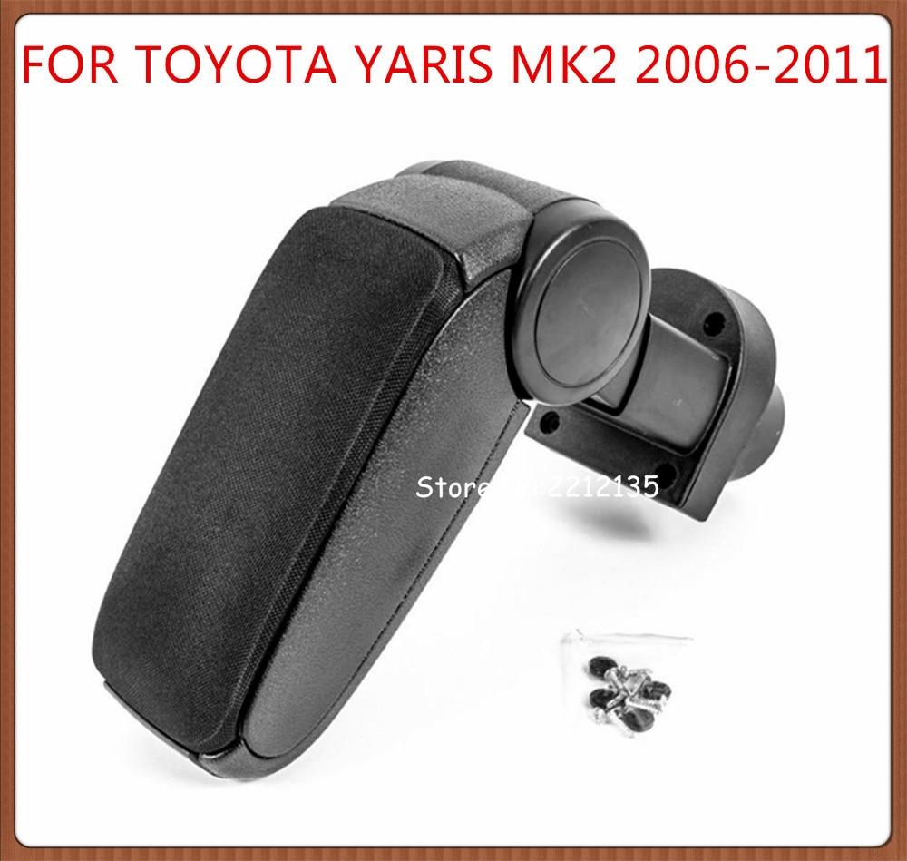 Free Shipping For Toyota Yaris 2 Mk2 2006 2011 Car Armrest