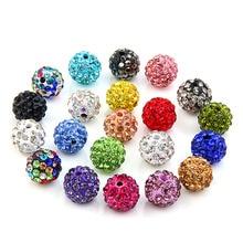 20 шт набор 10 мм глиняные хрустальные бусины диско-шар Стразы Diy бусины для изготовления ювелирных изделий браслет ожерелье Модные ювелирные изделия