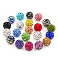 20pcs / Lot 10mm Clay Crystal Disco Ball beads Diy beads for jewelry making Fashion Jewelry 20 Colors