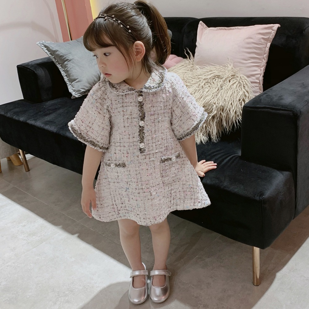 Spring Summe quality girls dress Baby knitted dress kids brand dress Children clothes anti rub pearl pocket 1 to 9 yrsSpring Summe quality girls dress Baby knitted dress kids brand dress Children clothes anti rub pearl pocket 1 to 9 yrs