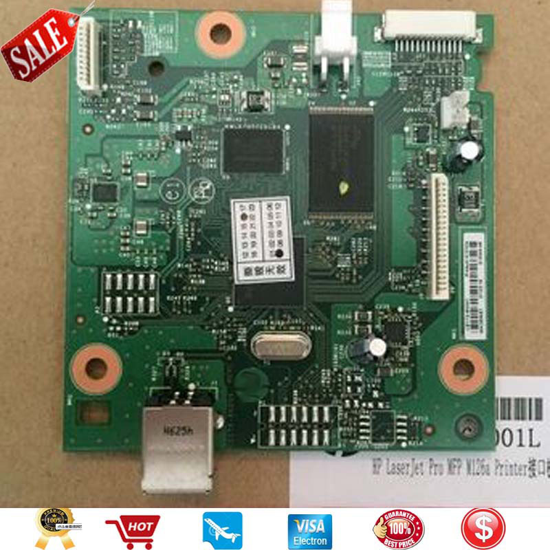 New Original LaserJet Formatter Board CZ172-60001 For HP LaserJet Pro M126a M126 M125A M125 126 125 Mainboard On Sale new oem formatter board 220v for hp laserjet pro m126a m126 m125a m125 126 125 cz172 60001 high quality mainboard copier parts
