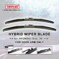 "Híbrido Wiper Blade para Hyundai Elantra (2011-Onwards) 1 conjunto de 26 ""+ 14"", U GANCHO Brisas Limpador Limpadores de Párabrisas do GANCHO J"