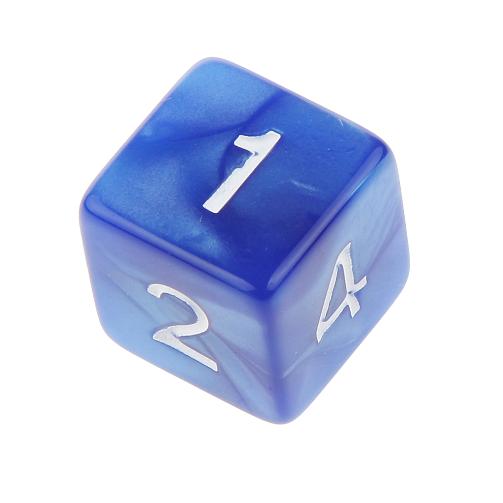 10Pcs Six Sided D6(1-6) Dice Dungeons D&D Role Playing Games Acrylic TRPG Game Dice for Home Party Entertainment Blue image