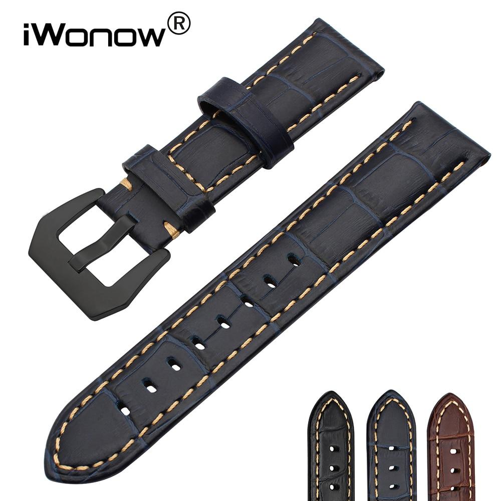 20mm Italian Genuine Calf Leather Watchband for Samsung Gear S2 Classic R732 R735 Moto 360 2 42mm Watch Band Croco Wrist Strap смарт часы samsung gear s2 black