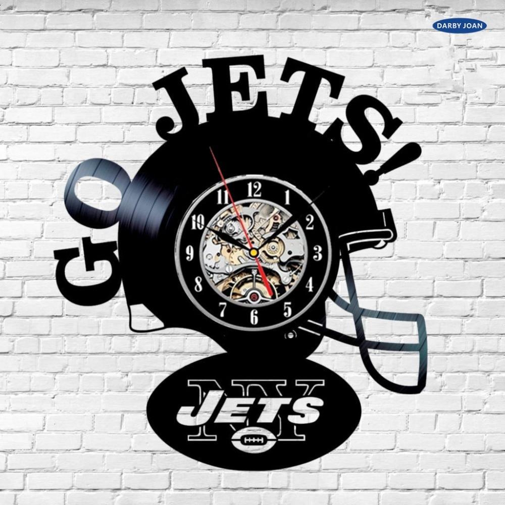 New york jets vinyl record wall clock ny nfl gift decor team new york jets vinyl record wall clock ny nfl gift decor team sports 12 in reloj in wall clocks from home garden on aliexpress alibaba group amipublicfo Gallery